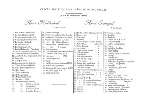 The Exhibition List of Paintings by Huklenbrok and Evenepoel