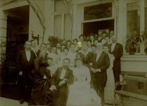 Henri's brother's wedding 1901 - Edouard and Anna