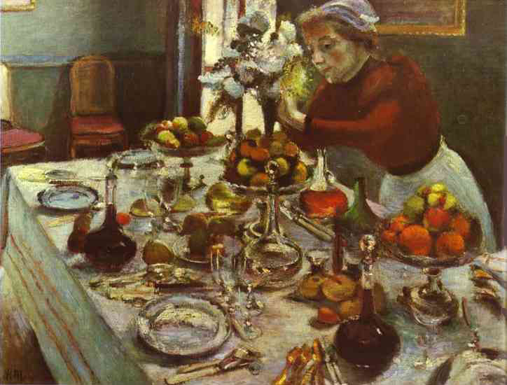 The Dinner Table by Henri Matisse - 1897
