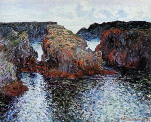 Belle Ile painted by Monet